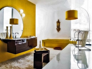 bathroom-classy-italian-bathroom-design-yellow-wall-painted-and-yellow-shades-lamp-stand-and-white-wool-rug-astonishing-italian-bathroom-interior-design-london-755