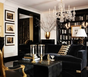Black-gold-Living-Room