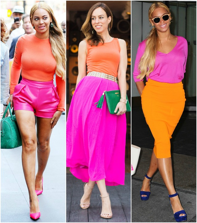 sydne style inspired by beyonce wearing hot pink