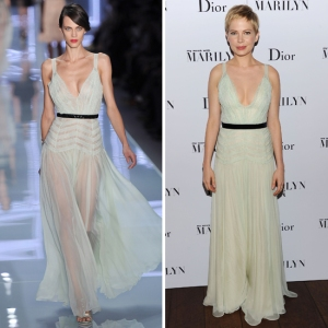 Dior 2015 runway  Michelle Williams wearing the dress