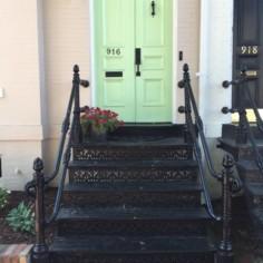 mint green door