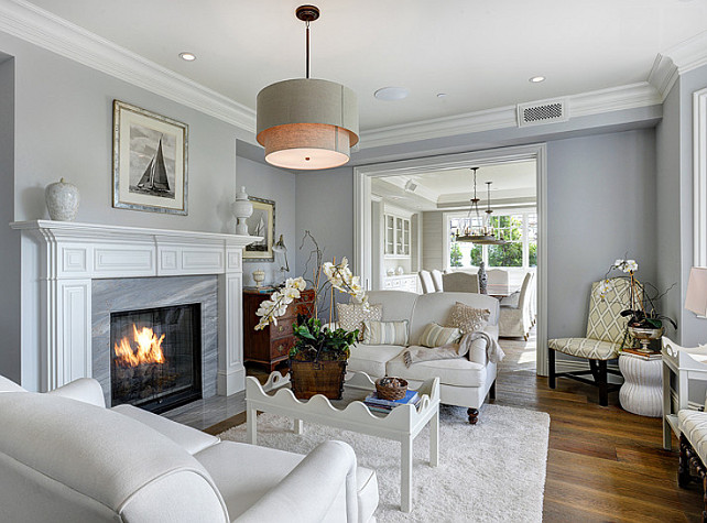 Coastal Living Room with Gray Sofa 642 x 475