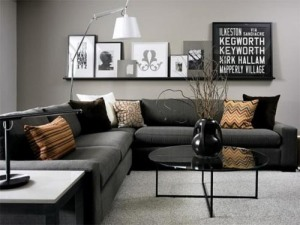 Grey-Interior-Black-Sofa