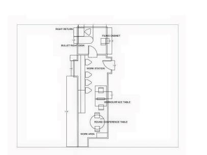 CAD drawing of Office space