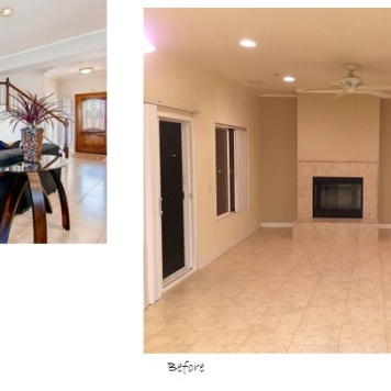 Before and after project